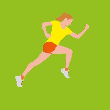 exercising: woman exercising Illustration