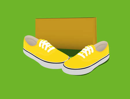 the pair: pair of shoes Illustration