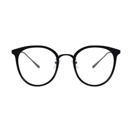Vector illustration of Eyeglasses, simple cartoon, isolated on white backround