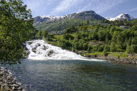 Norway - Waterfall In Hellesylt, Europe Travel Destination Stock Photo - 18235608