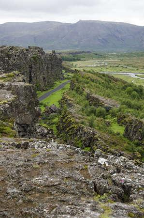 Iceland - Thingvellir National Park - Golden Circle Stock Photo
