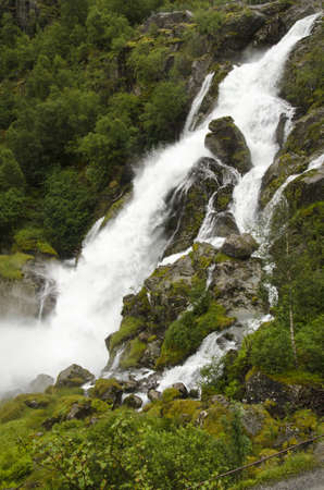 Norway - Jostedalsbreen National Park - Waterfall photo