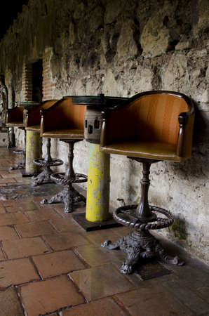 Old table and chairs in Antigua photo