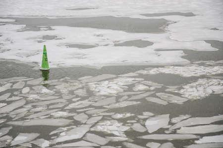Finland - Frozen Sea - Ice Floating - Transportation Stock Photo - 18824604