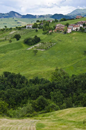 Countryside - Summer season - View from the hill, near Sassuolo, Province of Modena, Region of Emilia-Romagna - Northern Italy - Europe  photo