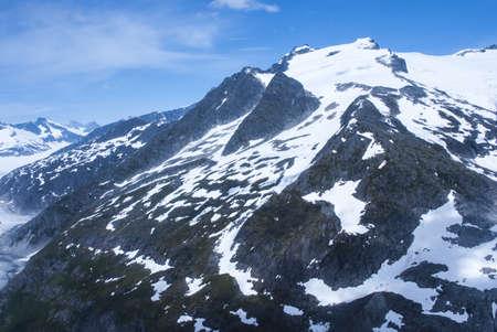 mountainscape: Alaska, aerial view of mountain - Travel Destination