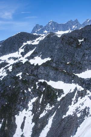Alaska, aerial view of mountain - Travel Destination photo