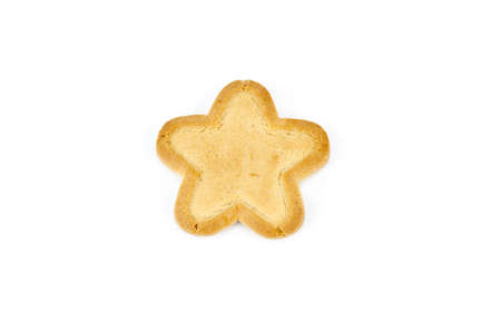 twice: Bakery - Star shaped biscuit - Isolated on white