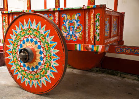 in ox: Costa Rica - Typical Decorated And Painted Ox Cart - Indigenous Cultures - Cultural Heritage of Humanity