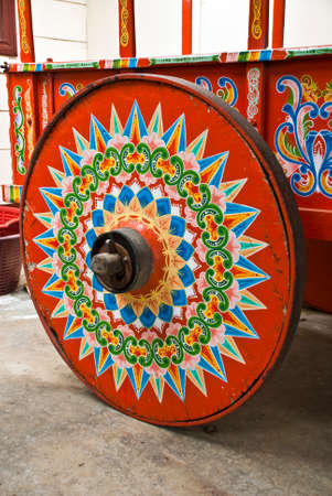 Costa Rica - Typical Decorated And Painted Ox Cart Wheel - Indigenous Cultures - Cultural Heritage of Humanity photo