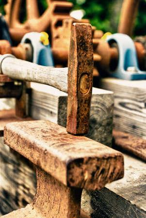 endangered: Vintage - Blacksmiths Tools - Hammer - Crafts Endangered - Symbol