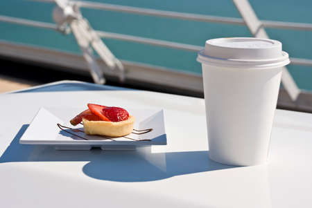coffee breaks: Alaska - Enjoy Haines - Delight With A Cupcake And Hot Drink On The Deck Of Cruise Ship - Travel Destination
