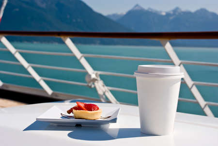 tea breaks: Alaska - Enjoy Haines - Delight With A Cupcake And Hot Drink On The Deck Of Cruise Ship - Travel Destination