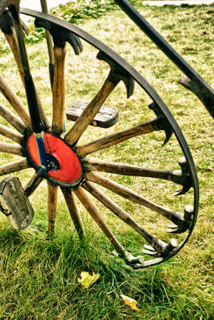 spokes: Vintage - Bicycle Wheel With Spokes Of Hammers - Abstract Design Of Retro Bicycle