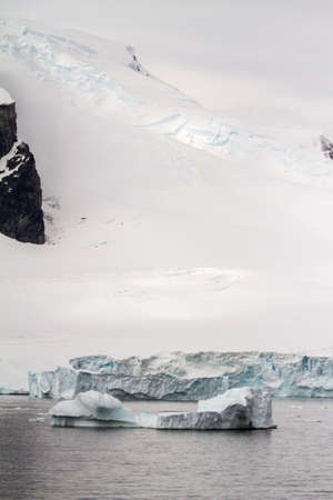 ice sheet: Antarctica - Dramatic Landscape - Coastline Of Antarctica With Ice Formations