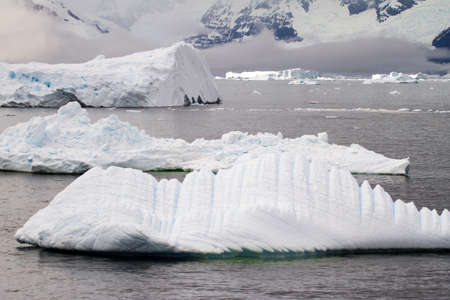 antarctic: Antarctica - Antarctic Peninsula - Coastline Of Antarctica - Global Warming - Ice Formations Stock Photo