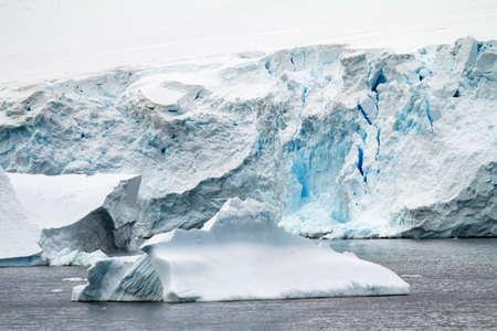 antarctic peninsula: Antarctica - Antarctic Peninsula - Coastline Of Antarctica - Global Warming - Ice Formations Stock Photo