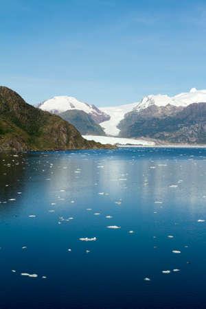 sarmiento: Chile - Amalia Glacier On The Edge Of The Sarmiento Channel - Skua Glacier - Bernardo O\ Stock Photo