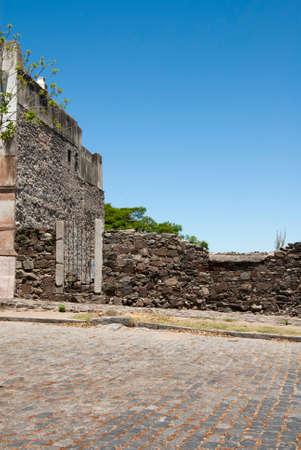 colonia del sacramento: Uruguay - Colonia Del Sacramento -  Defensive Walls And Ruins - World Heritage Site By UNESCO Stock Photo