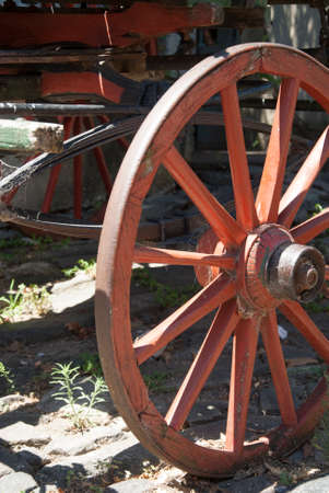 carreta madera: Vintage - Detalles De carro de madera Rueda Foto de archivo