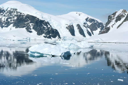 Summer in Antarctica - Coastline of Antarctica With Ice Formations - Antarctic Peninsula - Palmer Archipelago - Neumayer Channel - Global Warming