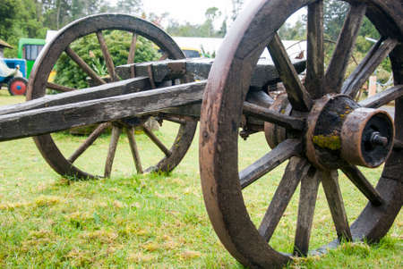 Colonial Time Period - Hand Crafted Wagon Wheel - Vintage Wagon Wheel - Puerto Montt - Chile