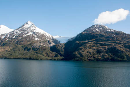 tierra: Cruising in Glacier Alley - Patagonia Argentina - Landscape of beautiful mountains, glaciers and waterfall