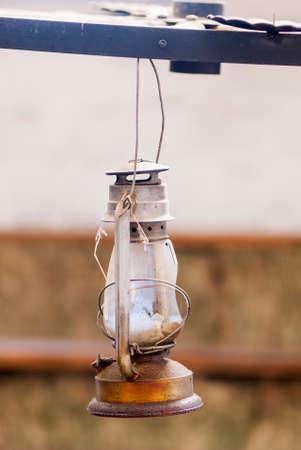 historic: Old Lantern - Vintage Oil Gas Lamp - Manta - Ecuador
