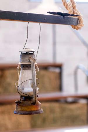 gas lamp: Old Lantern - Vintage Oil Gas Lamp - Manta - Ecuador