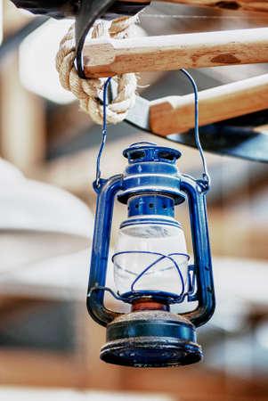 americana: Old Lantern - Vintage Oil Gas Lamp - Manta - Ecuador - HDR