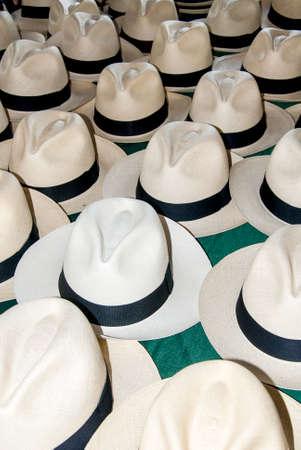 menswear: Accessory - Hats in South America - Menswear - Manta Ecuador Stock Photo