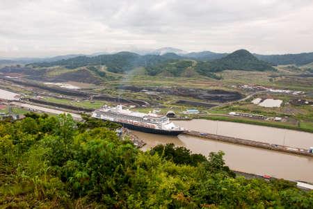 MS Zaandam - Holland America Cruise Line Ship in Panama Canal - 29.09.2013