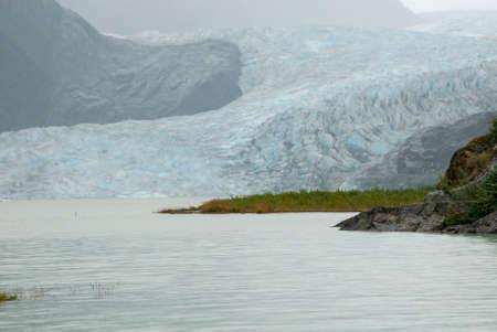 icefield: USA Alaska, Tongass National Forest, Mendenhall Glacier Recreation Area, Travel destination Stock Photo