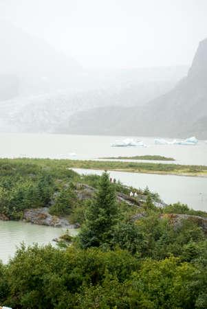 recreation area: USA Alaska, Tongass National Forest, Mendenhall Glacier Recreation Area, Travel destination Stock Photo