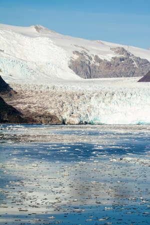 sarmiento: Chile - Amalia Glacier On The Edge Of The Sarmiento Channel - Skua Glacier - Bernardo OHiggins National Park Stock Photo