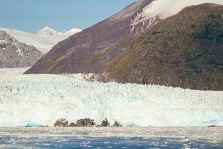 Chile - Amalia Glacier On The Edge Of The Sarmiento Channel - Skua Glacier - Bernardo OHiggins National Park Stock Photo
