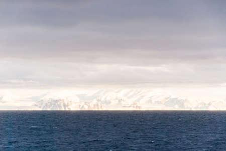 desert ecosystem: Antarctica in a cloudy day- Antarctic Peninsula - Palmer Archipelago - Neumayer Channel - Global warming - Fairytale landscape