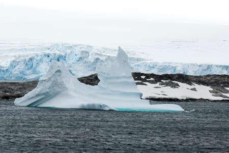 Antarctica in a cloudy day- Antarctic Peninsula - Palmer Archipelago - Neumayer Channel - Global warming - Fairytale landscape