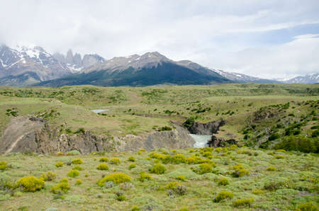 magallanes: South America - Patagonia - Torres del Paine National Park in a cloudy day - Beautiful natural landscape - Travel Destination - Landmark