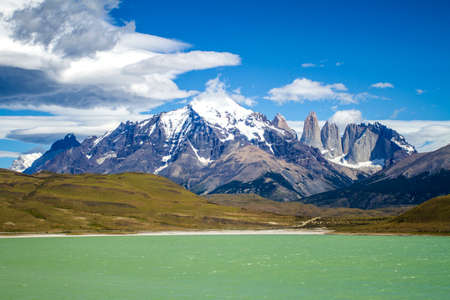 South America - Patagonia - Torres del Paine National Park - Beautiful natural landscape - Travel Destination - Landmark Stock Photo