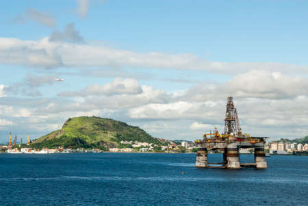 Brazil - Oil Platform At Guanabara Bay, Rio De Janeiro In The Background - Oil Industry - Travel Destination - Photo Taken on December 19 2013