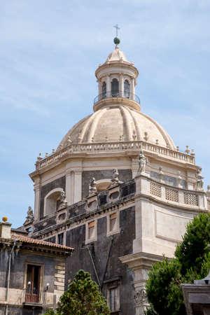Baroque church - Basilica della Collegiata, Catania, Sicily, Italy Stock Photo