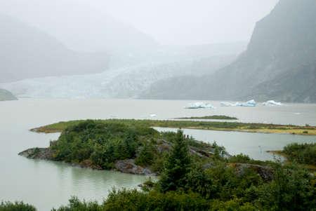 USA Alaska, Tongass National Forest, Mendenhall Glacier Recreation Area, Travel destination 版權商用圖片