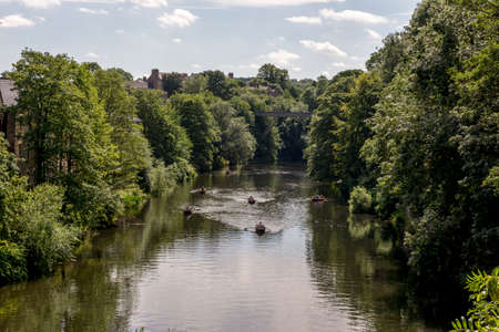 Looking down the River Wear in Durham, United Kingdom
