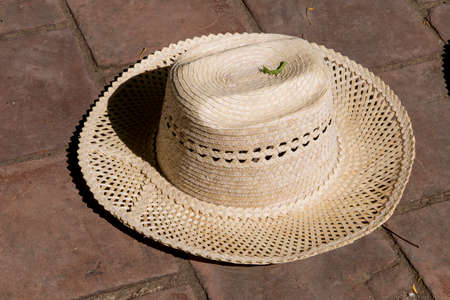 Straw hat, souvenirs, street vendor, Trinidad, Sancti Spiritus province, Cuba, Central America, America, Central America. Photo taken on 3rd of November, 2019