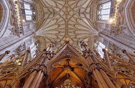 Interno della cattedrale di Winchester nell'Hampshire - Kinkdom unito. Foto scattata il 6 maggio 2019