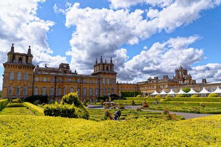 Blenheim Palace in Woodstock, England. The birthplace of Winston Churchill and residence of the dukes of Marlborough - 1st of August 2020 Editorial