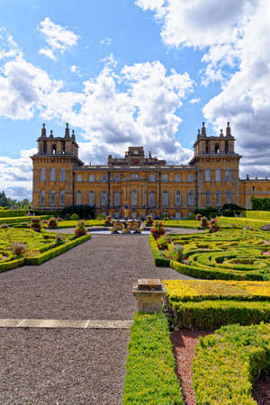 Blenheim Palace in Woodstock, England. The birthplace of Winston Churchill and residence of the dukes of Marlborough - 1st of August 2020 Éditoriale