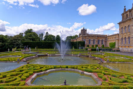 Blenheim Palace in Woodstock, England, United Kingdom. The birthplace of Winston Churchill and residence of the dukes of Marlborough - 1st of August 2020