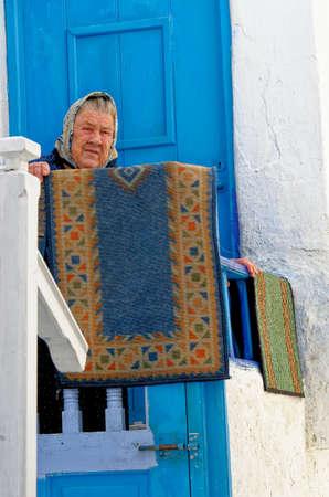 Portrait of an old woman - Mykonos Town, Chora, Mykonos Island, Greece - 26th of June 2011